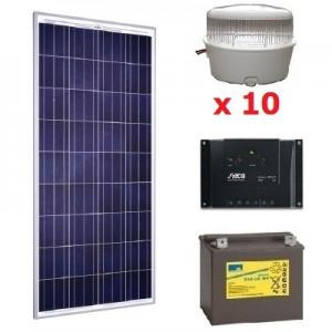Solar kit 15 spots LED 12V