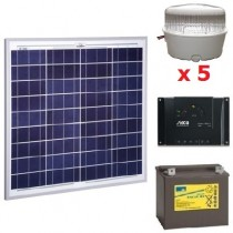 Kit solar 10 spots LED 12V