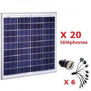 Kit solaire 15W pour téléphones