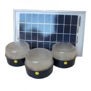 Kit solar Iluminación 3 lámparas