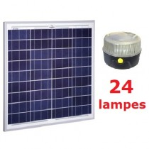 Kit solaire Collectif 24 lampes