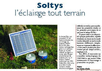 presse solaire Soltys