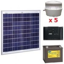 Solar Kit 10 spots LED 12V
