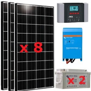 Solar kit 1200W 230V