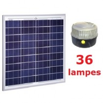 Kit solaire Collectif 36 lampes